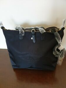 US POLO ASSN large black bag new with tags and dust bag