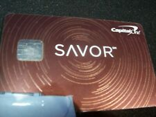 CAPITAL ONE SAVOR PLATINUM  MASTERCARD  METAL  CREDIT CARD (AMERICAN EXPRESS)