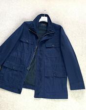 Men's LACOSTE Classic Logo Jacket Coat Blazer SZ EU 56 XL XXL Navy Blue Bomber