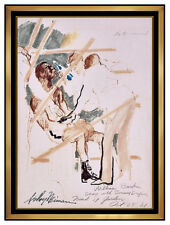 LeRoy Neiman Original Boxing Ink Drawing Hand Signed Sports Painting Artwork SBO