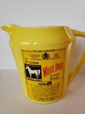 White Horse Scotch Whisky Whiskey Yellow Ceramic Pitcher Lego Japan