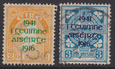 IRELAND, Scott #118-119: Used, 1941 Easter Rising 1916