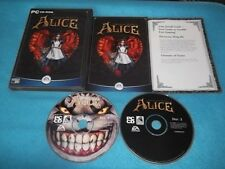 AMERICAN McGEE'S ALICE PC-CD V.G.C. FAST POST ( original version & complete )