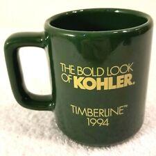 Kohler Paint Coffee Cup Mug Vintage 1994 Timberline Green