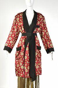 SULKA vtg 50s Silk Smoking Jacket Robe Pajamas Hugh Hefner Playboy Dressing Gown