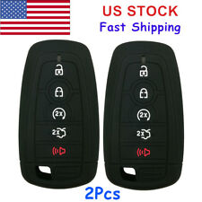 2Pcs 5 Button Remote Key Fob Cover Case Protector Skin for Ford Fusion 2017 F250