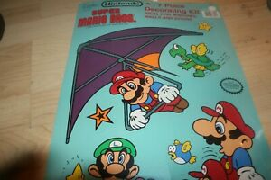 Nintendo Super Mario Bros Brothers 7 Piece Wall Door Decorating Kit New Sealed