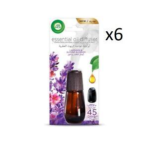6 x 20ml Airwick Essential Oils Lavender & Almond Blossom.