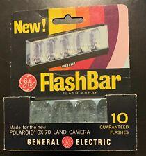 Original GE General Electric Flash Bar 10 Flashes Polaroid SX-70 Land Camera A7