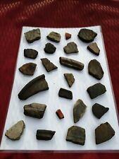Fragmentos de cerámica romana Greyware Samian Ware (patrones) #16