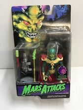 MARS ATTACK TALKING MARTIAN SUPREME COMMANDER ACTION FIGURE CARDED
