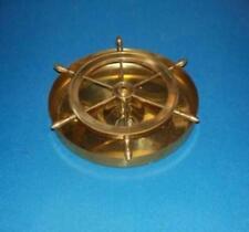 Solid Brass Ships Wheel Ashtray
