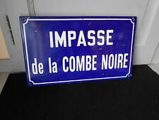 Vintage FRENCH  Enamelware STREET SIGN Plaque in BLUE COBALT