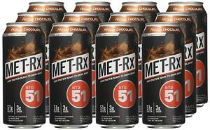 MET-Rx RTD 51 gram Protein Shake 15 oz. Ready to Drink Chocolate - 12 ct.