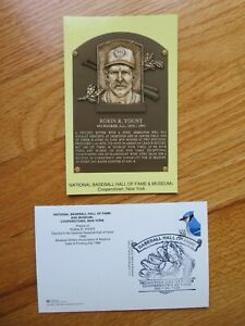 ROBIN YOUNT Induction HALL OF FAME Plaque July 25, 1999 CANCELED Stamp BREWERS