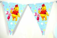 3 Piece XL Paper Pennant Garland Disney Winnie Pooh Piglet PU Der Bear