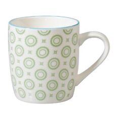 Becher GREEN CIRCLE Porzellan creme grün Japan Blumen Kaffeebecher von REX