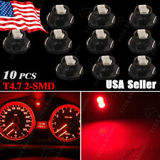 10Pcs Red T5/T4.7 Neo Wedge LED Bulb Dash Climate Control Instrument Base Light