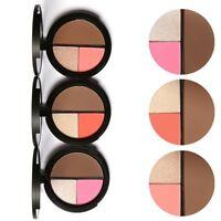 Fashion Shimmer Bronzers Powder Makeup Blusher Highlighter Palette Contour Set