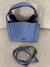 NWOT Coach #78800 Hadley Hobo W/Crossbody Strap In Stone Blue Leather & Pewter