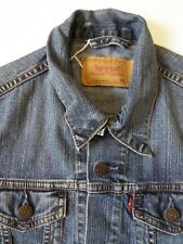 LEVI'S 70590 DENIM SLIM FIT JACKET FOR GIRLS XS MID BLUE STRAUSS LJKTA881