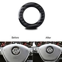 Carbon Fiber Engine Start Stop Button Ring Trim Cover For VW Golf MK7 2014-2019