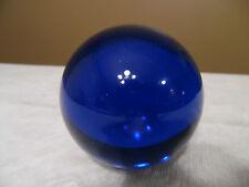 "Round Glass Sphere Globe Paperweight / Marble - Blue- 3"" - Original Box -New!"