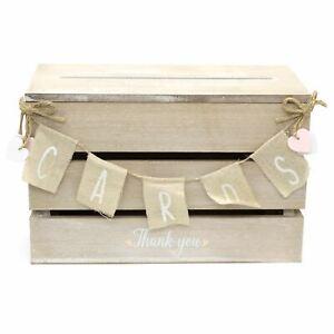 Shabby Chic Wedding Card Post Box   Wedding Guest Letter Box   Wedding Card Box