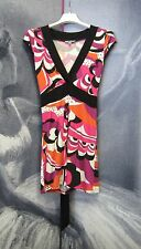 Retro Funky Abstract Print Top Tunic Size 6 8