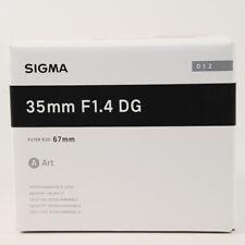 NEU SigmaART 35mm f/1,4 HSM DG für Nikon/unbenutzt/Garantie 12/2019/Fotohändler