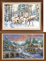 "New Finished completed cross stitch ""Beauty Winter""Home Decor Gifts"