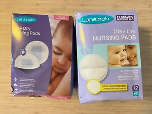 NWT 2 Boxes Lansinoh Stay Dry Nursing Pads - 60 Pads Per Box