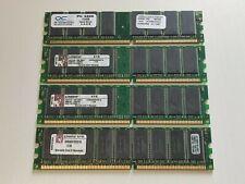 4 x OCZ Kingston KVR333X64C25K2/1G 1 GB 4GB 1024 MB PC2700 DDR-333 DDR RAM DIMM