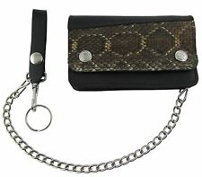 Men/'s Leather Wallet North Star Leather with chain high quality made in USA.
