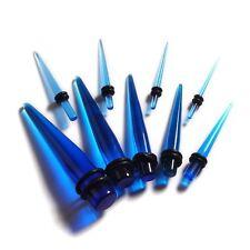 set di 14 piercing espansore di spalmatore blu acrilico trasparente rif. EXP