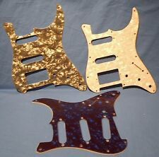 BLUE WHITE AND GRAY PEARLOID 3 PICKGUARDS FOR FENDER STRATOCASTER GUITAR