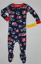 NEW~CARTERS TODDLER BOY EMERGENCY VEHICLES COTTON SLEEPER PAJAMAS SIZE 12 MONTH