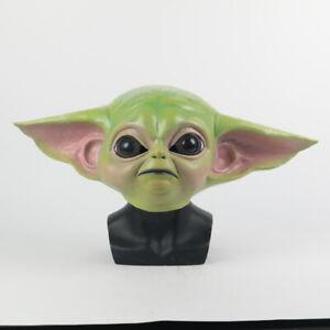 Cosplay Star Wars The Mandalorian Baby Yoda Mask New Fancy Dress Helmet Props