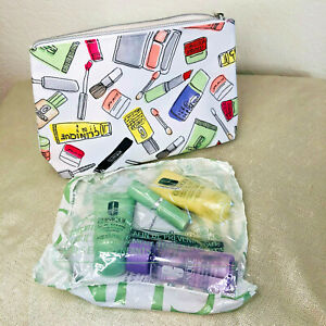 CLINIQUE 6 PCS - Travel Size Makeup Sample Gift Set - Makeup BAG - NEW