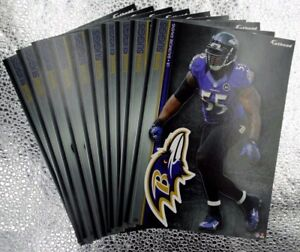 """12 Fathead Terrell Suggs Baltimore Ravens NFL Decal Team Logo 7"""" Tradables 1"""