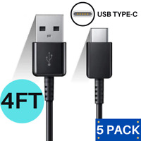 3/5Pack 4FT USB Type C Fast Charging Cable Charger Data Cord for Samsung LG HTC
