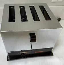 Vintage Art Deco Toastmaster Pop Up Chrome Toaster 4 Slice Model D126B USA Made