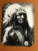 Lg 1918 Native American Chief - He Dog2 Historical Museum Quality tintype C082RP