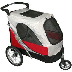 PETSTRO Stroller SKYLINE 701GX-RD Rot | Buggy Wagen Show Ausstellung Poussette