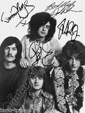 LED ZEPPELIN - print signed photo - foto con autografo stampato