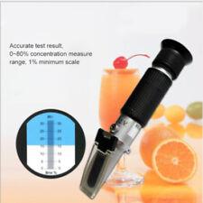 1stk Tragbar 0-32/% Brix Refraktometer Wein Frucht Zucker Fluid Bier Tester