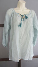 Tommy Bahama Tunic Shirt Top Blouse 100% Cotton Boho Chic Semi Sheer NEW
