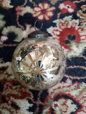 Pottery barn mercury glass ornaments S/3 silver/gold.