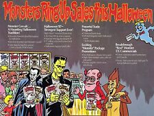1987 Monsters Cereal Ad High Quality Metal Fridge Magnet 3 x 4 9701