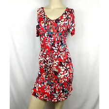 9218fb9baf9 Mudd Multicolor Abstract Floral Shirt Dress drawstring tie Dress Size women  XS
